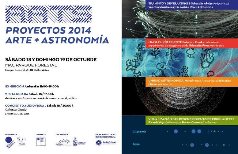 Actividad: Arte y astronomía Exposición, recorrido y concierto audiovisual