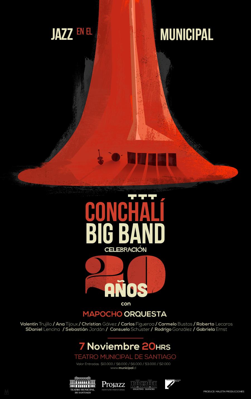 Conchalí Big Band celebra sus 20 años en el Teatro Municipal de Santiago