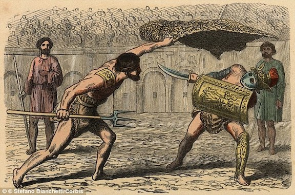 Fuerza verde: gladiadores romanos eran vegetarianos