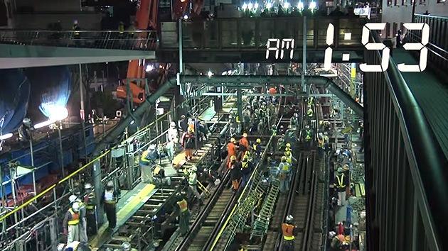 Video: 1.200 japoneses construyen un tramo de metro en cuestión de horas