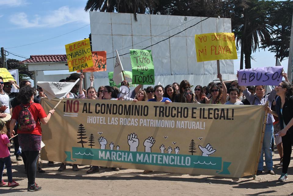 Maitencillo convoca a marcha contra proyecto inmobiliario en Las Rocas