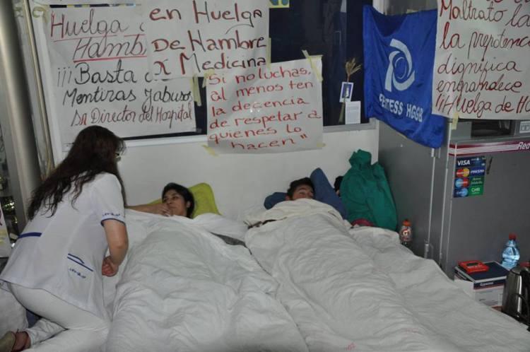 Huelga de hambre y marchas marcan el paro de los trabajadores del Hospital Regional de Concepción
