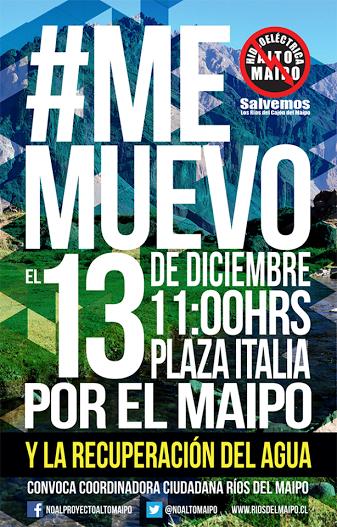 Sergio Lagos, Malucha Pinto y Javiera Parra llaman a moverse el 13 contra Alto Maipo #NoAltoMaipo