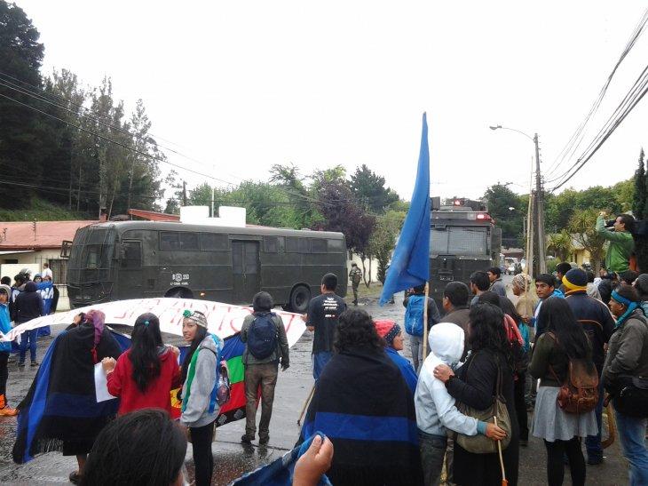 Tirúa: Interposición de denuncia por comuneros heridos deja 2 detenidos y 3 lesionados más