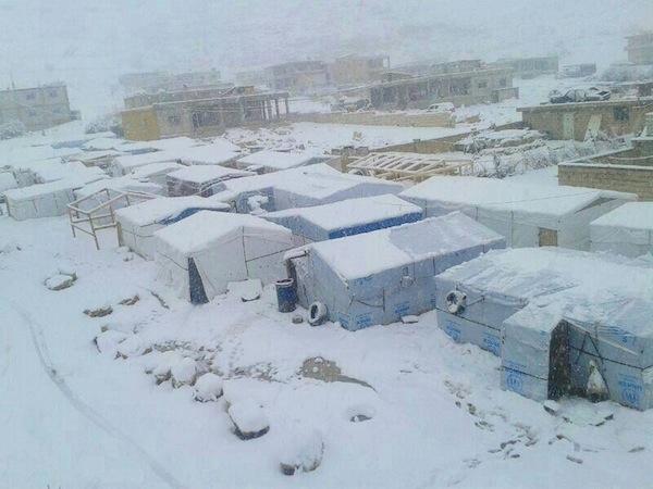 Tormenta de nieve en Siria: Primer día sin fallecidos en combate desde el comienzo de la guerra civil