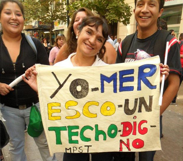 Protesta en Concepción: ¡Viviendas dignas ahora!