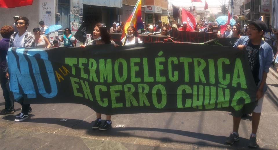 Termoeléctrica en Cerro Chuño: Comunidades anuncian que no cesarán la lucha