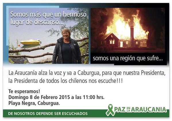 RN se anota a funa organizada por Paz en La Araucanía contra Bachelet