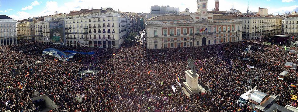 España: la 'marcha del cambio' en imágenes