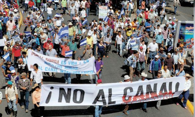 El «NO» al Canal Interoceánico de Nicaragua