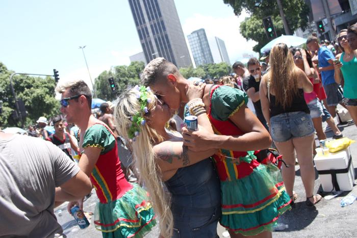 El carnaval en las calles de Rio de Janeiro