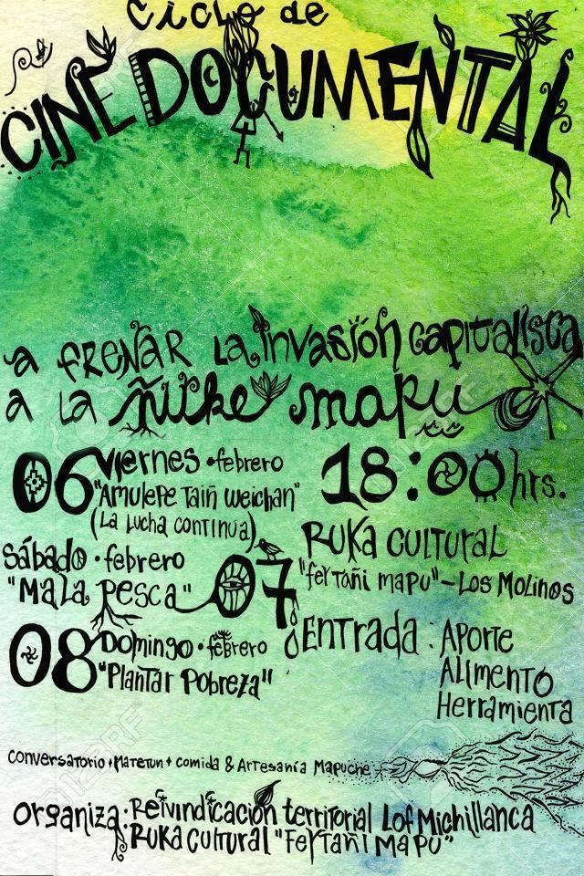 Exhibirán documentales en apoyo de familia mapuche lafkenche