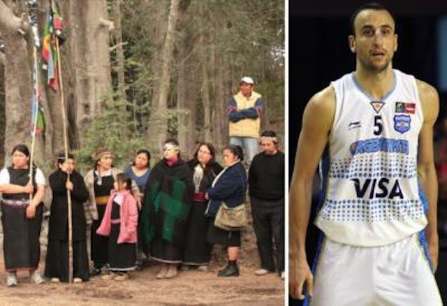 Territorio histórico enfrenta a comunidad mapuche con basquetbolista Ginóbili