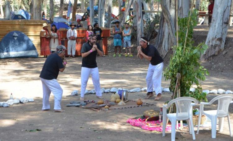 Pequeña localidad reunió a pueblos originarios y realizaron rogativa por el agua