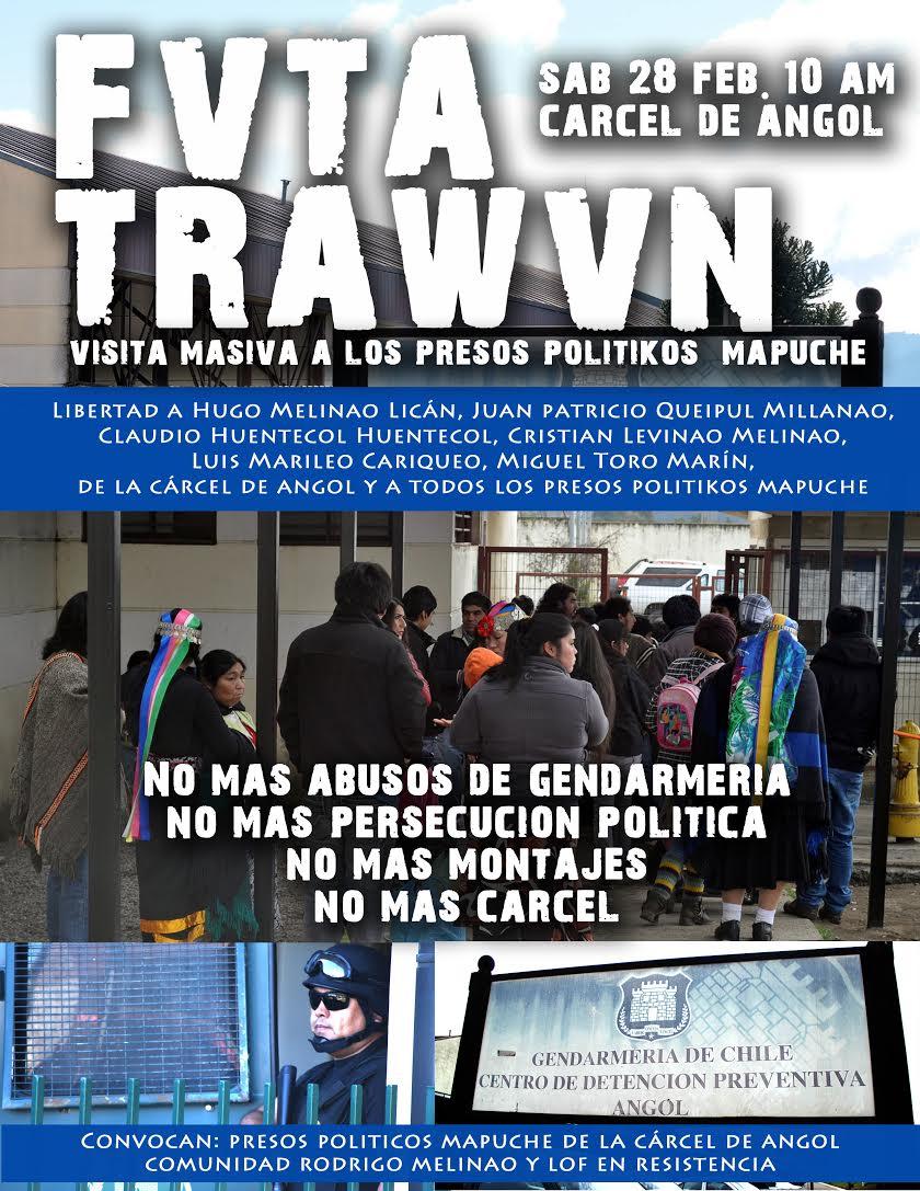 Llaman a movilización por abusos contra presos políticos mapuche en Angol