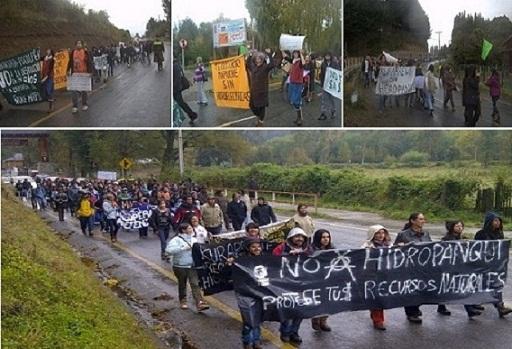 """""""Los ríos nos unen"""": Se reactivan manifestaciones ante invasión hidroeléctrica en Curarrehue"""