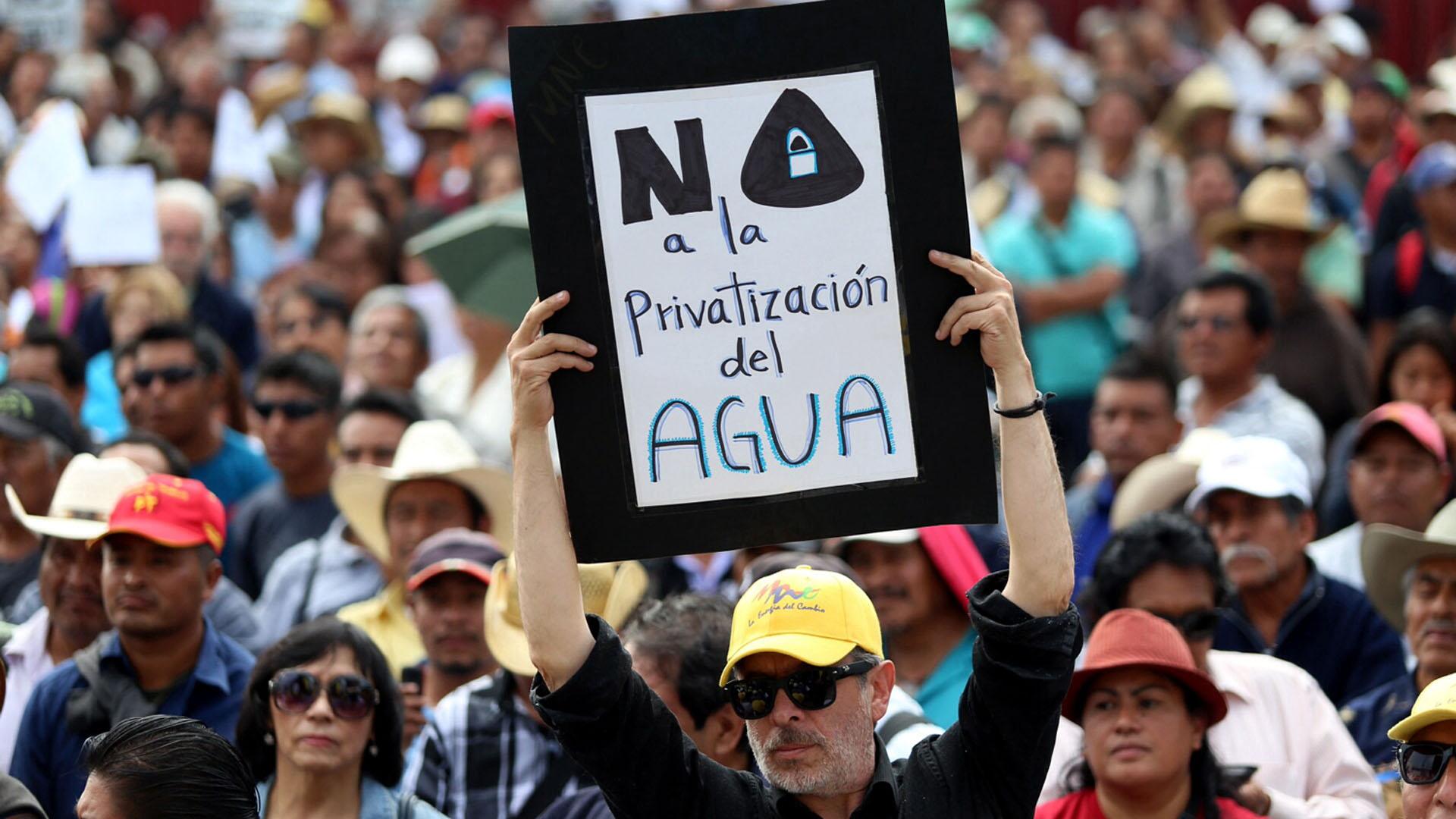 México: Fuerte oposición ciudadana a la privatización del agua