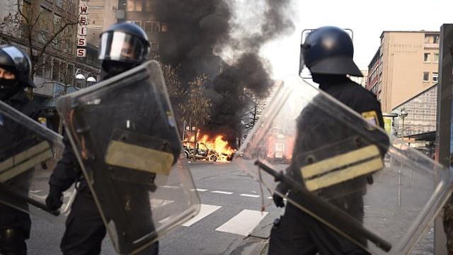 Alemania: 350 manifestantes detenidos en la inauguración de la sede del BCE en Frankfurt