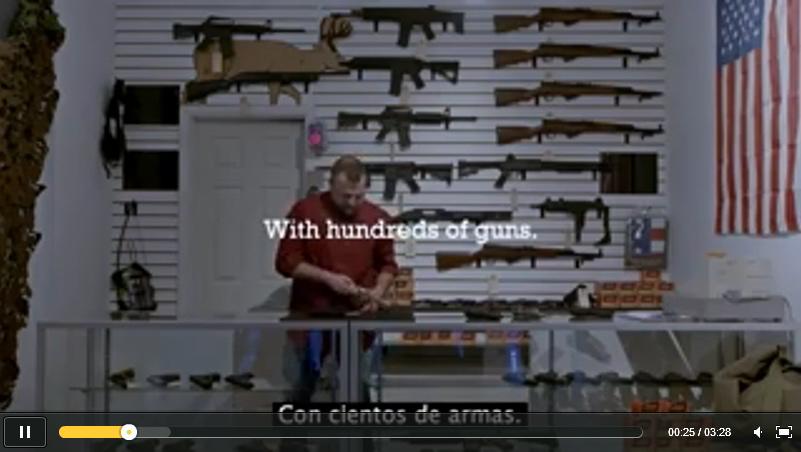 Esto es lo que pasa cuando una tienda de armas de fuego es abierta