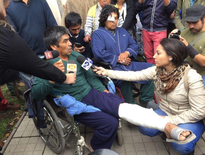 Comuneros mapuche baleados en Tirúa quedan en libertad con prohibición de ingresar a predio