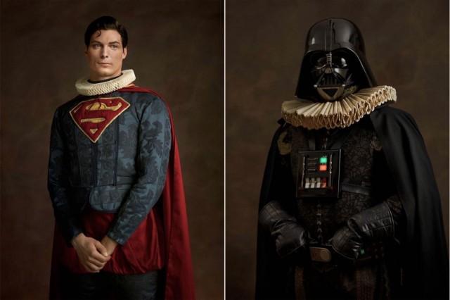 Increíbles retratos de superhéroes al estilo del arte flamenco