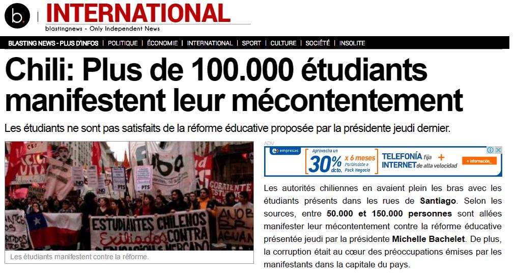 Así cubrieron los medios de comunicación internacionales la marcha estudiantil