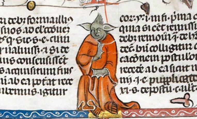 Descubren al Maestro Yoda en un manuscrito del siglo XIV.