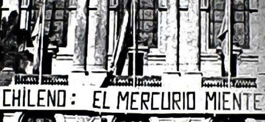 Algunas de las portadas más oscuras de El Mercurio.