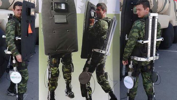 El Ejército ruso contará con exoesqueletos dirigidos con la mente dentro de 5 años