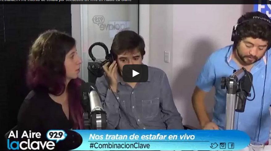 Estafadores que simulaban secuestro caen chanchitos y al aire en Radio La Clave (vea el vídeo)
