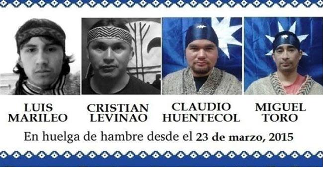 Presos políticos mapuche que llevan 44 días en huelga de hambre en la cárcel piden traslado a hospital por crítico estado de salud