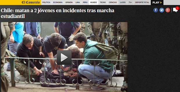 Reacción de la prensa internacional tras el asesinato de los dos jóvenes en Valparaíso