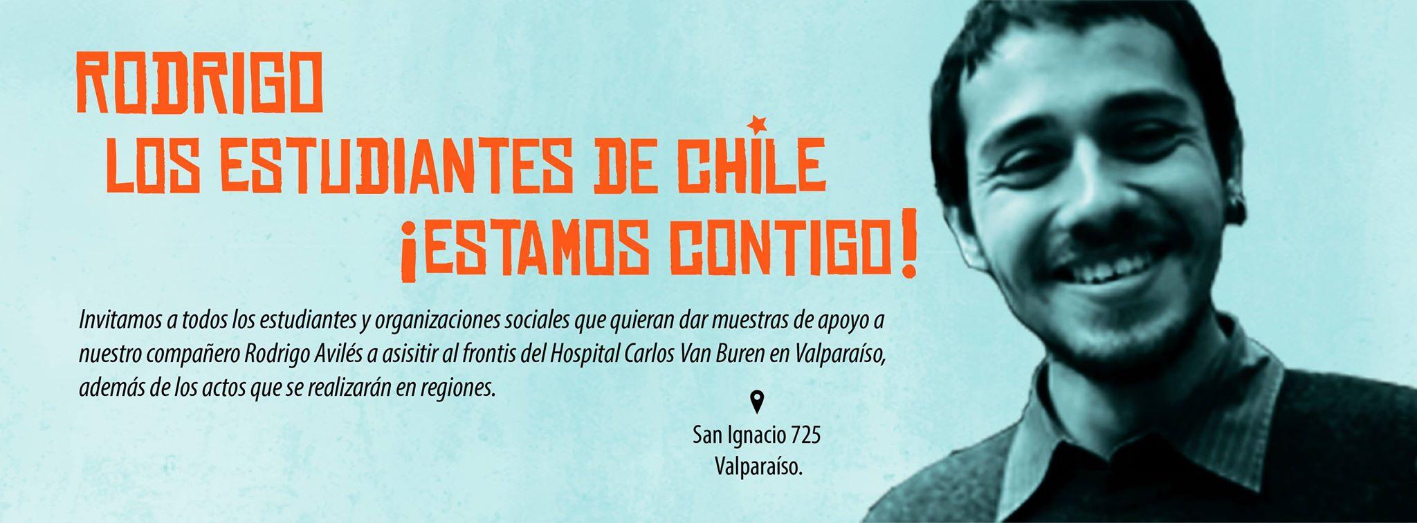 Rodrigo Avilés despertó consciente y fuera de riesgo vital