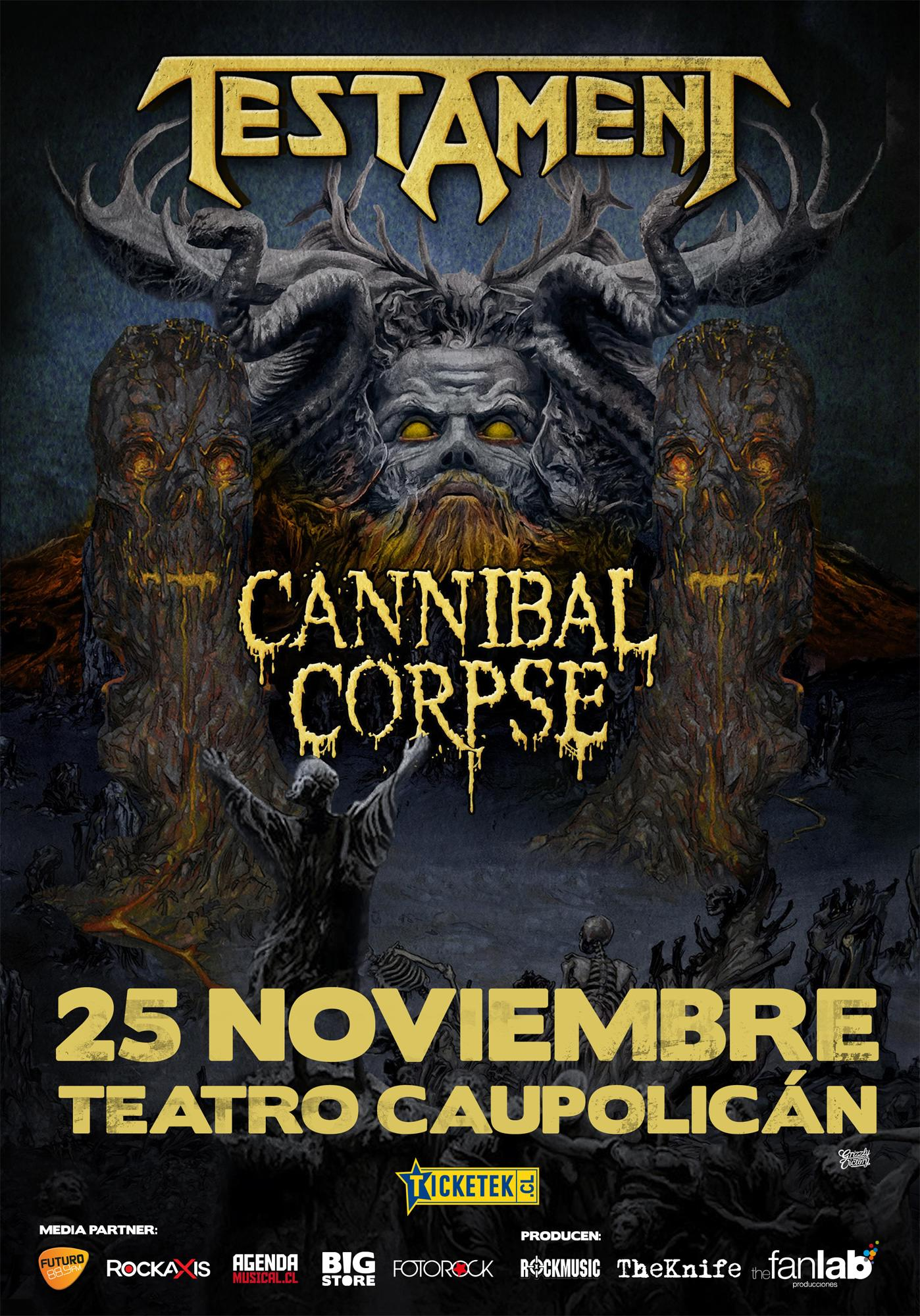 Testament y Cannibal Corpse juntos en Chile