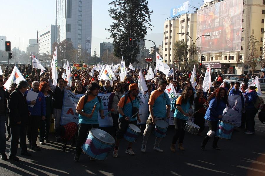Trabajadores y trabajadoras de Educación Parvularia rechazan en las calles la Carrera Docente