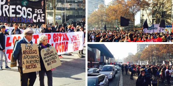 Marcha estudiantil: Más de cien mil personas salen a las calles