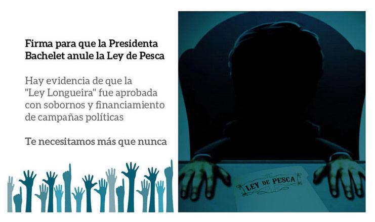 ¿De qué lado estás?: La campaña que presiona para que Bachelet anule la Ley de Pesca