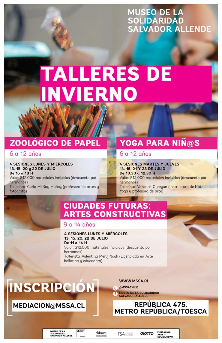 Talleres de Invierno en el Museo Salvador Allende