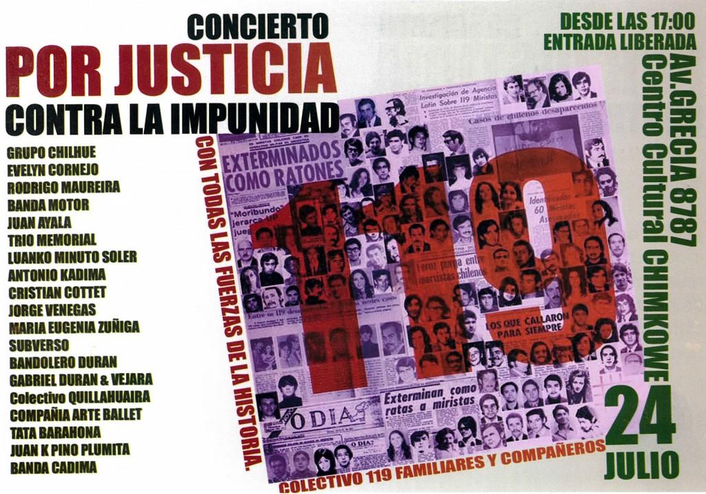 Concierto contra la impunidad por los 119 desaparecidos