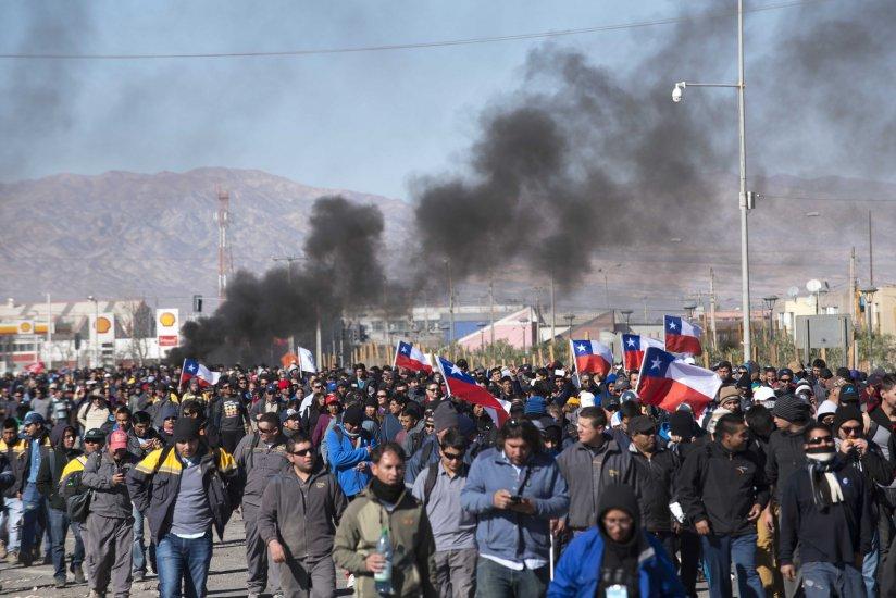 Balance diario de la huelga en las distintas divisiones de Codelco