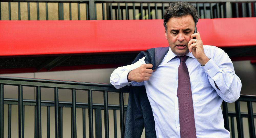 El líder de la oposición en Brasil también fue acusado de corrupción
