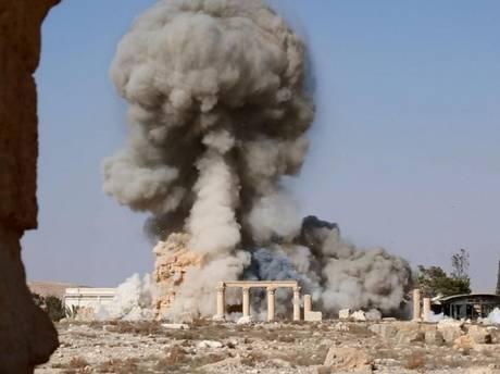Estado Islámico publica imágenes de la destrucción de un templo en Palmira