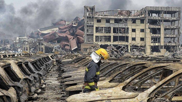 China: Asciende a 129 cifra de muertes por explosiones en Tianjin