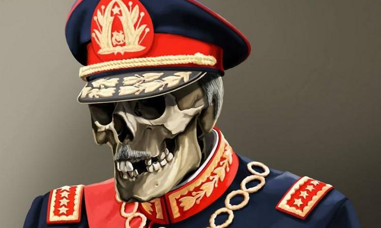 Artista realiza una cadavérica y macabra versión de políticos y dictadores (Incluido Pinochet)