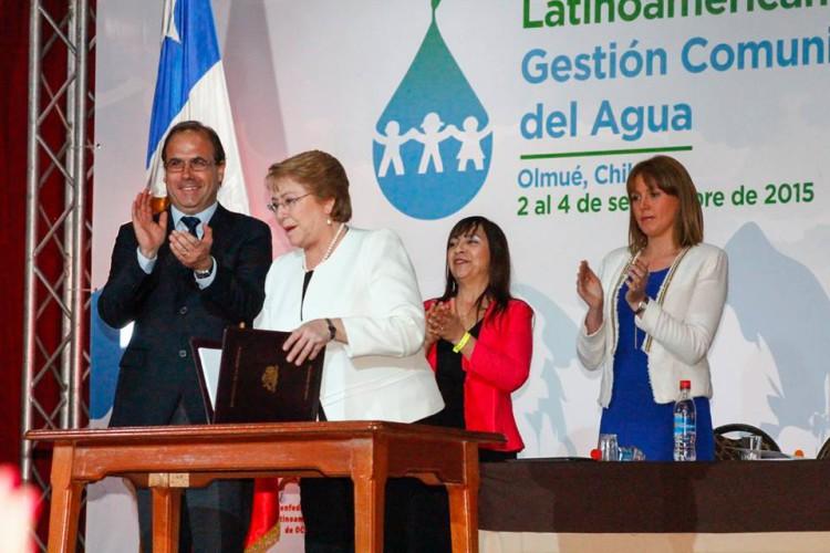Presidenta Bachelet inauguró el VI Encuentro Latinoamericano de Gestión Comunitaria del Agua