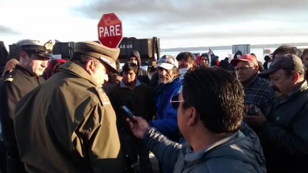Pescadores artesanales del Biobío detenidos tras manifestación