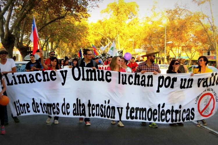 Habitantes de Olmué y Limache marcharán contra proyectos eléctricos que afectan ese valle