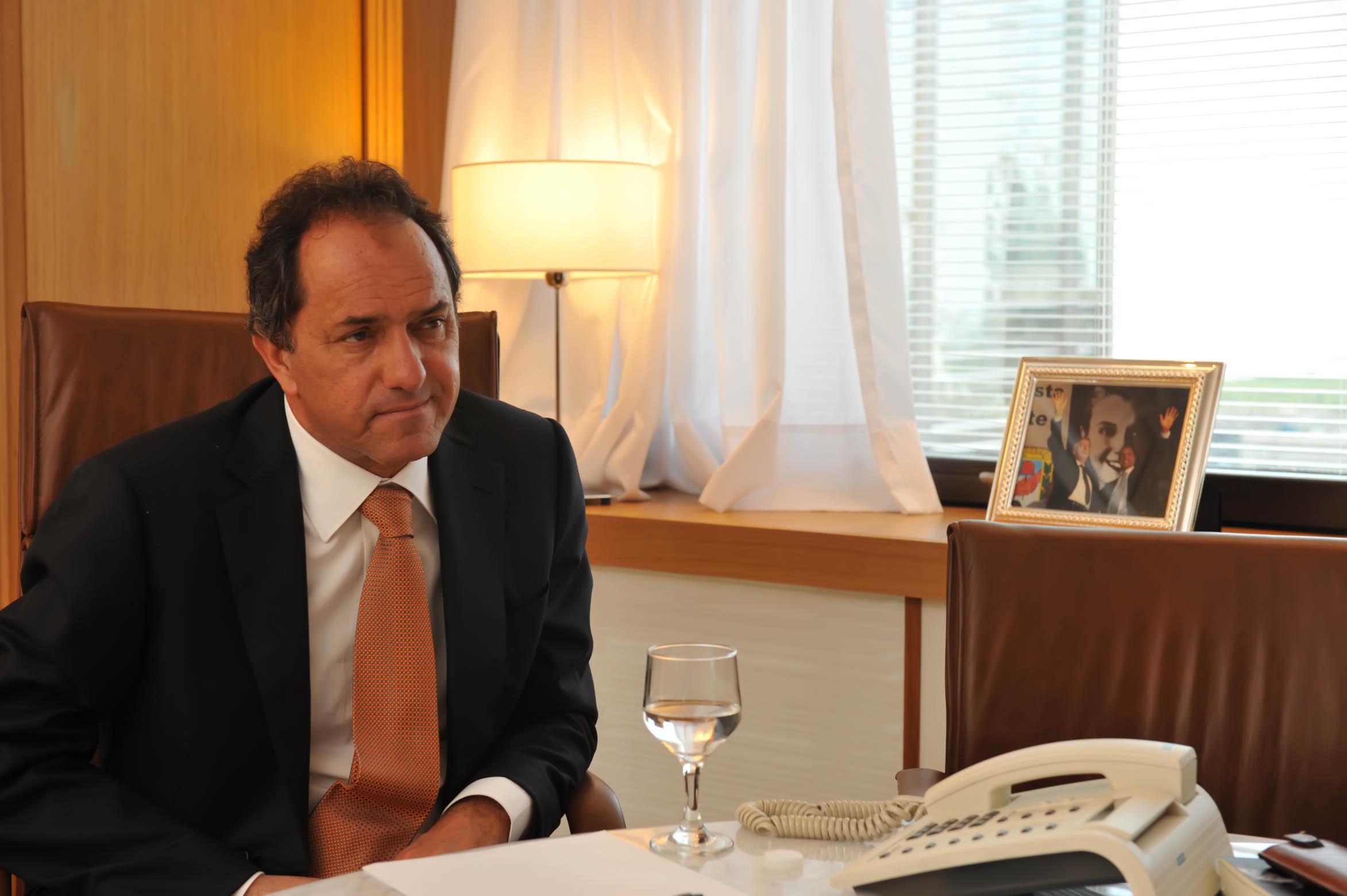 Daniel Scioli está adelante en la carrera Presidencial Argentina