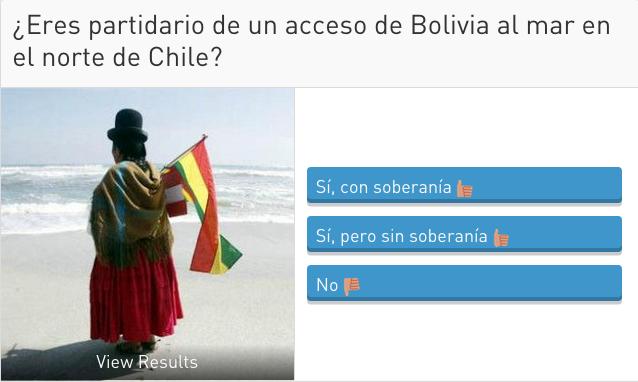 #Encuesta : ¿Eres partidario de un acceso de Bolivia al mar en el norte de Chile?