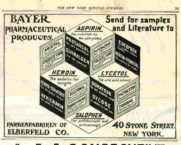 Drogas que se recetaban como medicinas